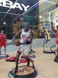 NBA Chicago Bulls Michael Jordan Figurine statue at Thailland Comic Con