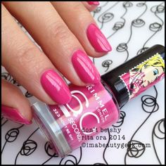 I don't know who Rita Ora is. But now I do 'cause she has her name on a capsule collection for Rimmel Fall I got the Rimmel Rita Ora 60 Second Rimmel Nail Polish, Pink Nail Polish, Bunny Paws, London Nails, Nail Time, Rimmel London, Rita Ora, Claws, Nail Ideas