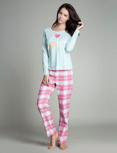 women'secret | Productos | Pijama largo de algodón con estampado de cookies