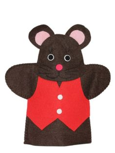 MOUSE HAND PUPPET: The Mouse hand puppet is hand made with high quality felt. Stitched together for durability, the added parts such as eyes and nose are glued on using a non-toxic tacky glue Felt Finger Puppets, Sock Puppets, Hand Puppets, Art For Kids, Crafts For Kids, Puppet Patterns, Paper Puppets, Puppet Making, Operation Christmas Child