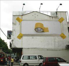 Anuncios creativos a lo grande en edificios