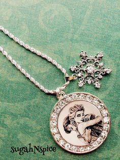 Frozen Elsa and Anna Necklace Sterling Silver by sugahNspice, $29.95