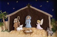 Keep Christ in Christmas. Christmas Clay, Christmas Wishes, Christmas Holidays, Christmas Crafts, Clay Crafts, Diy And Crafts, Advent, Button Ornaments, Nativity Scenes