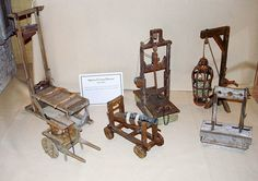 Miniatures. Handcrafted Medieval Torture Devices by Don Silva from Modesto, California