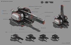ArtStation - Guns for Star Conflict, Denis Melnychenko