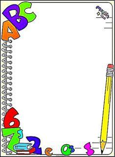free printable border designs for paper Boarder Designs, Page Borders Design, Borders For Paper, Borders And Frames, School Border, Printable Border, Kindergarten Portfolio, School Frame, School Clipart