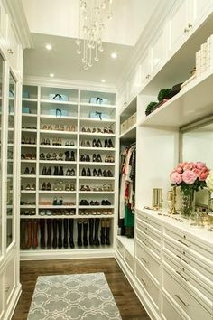Glamourous walk in closet for the master suite. Labor Junction / Home Improvement / House Projects / Closets / Walkin Closet / House Remodels / www.laborjunction.com