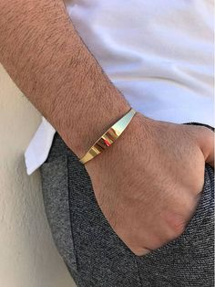 Jewelry OFF! Excited to share the latest addition to my shop: Men's Bracelet Gold Bangle Bracelet Bangle Bracelet Men Cuff Bracelet Men Gift for Him Made in Greece by Christina Christi Jewels. Mens Gold Bracelets, Mens Gold Jewelry, Gold Bangle Bracelet, Bracelet Men, Gold Bracelet For Women, Women's Jewelry, Silver Jewellery, Fashion Bracelets, Gold Bracelet Indian