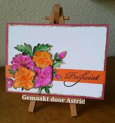 crea-scrap-card: Bloemen kaart