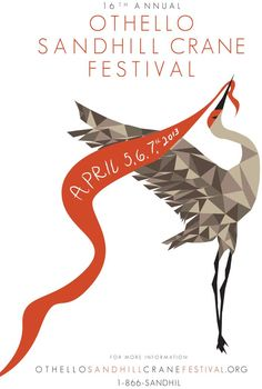 Xengyeng Xiong, a graphic design student at Eastern Washington University, captured the grace of the Othello Sandhill Crane Festival's featured attraction in artwork that has won the $500 top prize in the festival's annual art contest.    (Courtesy)