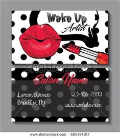 Business card for make up artist. Pop art style.