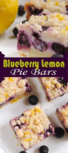 Blueberry Lemon Pie Bars...these are v.good. Maybe just add a bit more sugar to the filling.