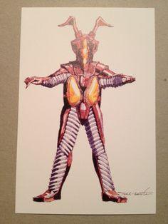 初期の円谷作品を支えたデザイナーの成田亨氏の「ゼットン」のデザイン決定稿