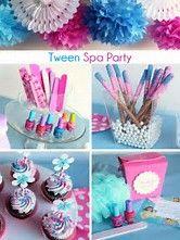 Resultado de imagen de Little Girls Spa Birthday Party Ideas