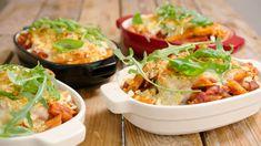Ovenschotel met spinazie, champignons en spek | Dagelijkse kost Pasta Recipes, Cooking Recipes, Healthy Recipes, Confort Food, Dutch Recipes, Foodies, Food Porn, Good Food, Food And Drink