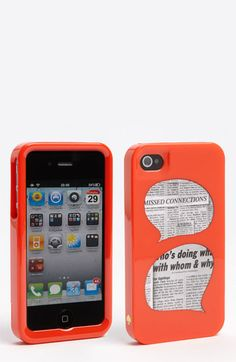 kate spade new york 'who's doing what' iPhone 4 & 4S case available at #Nordstrom
