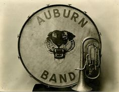 """""""Early Marching Band Drum And Baritone, Circa 1890's..."""""""