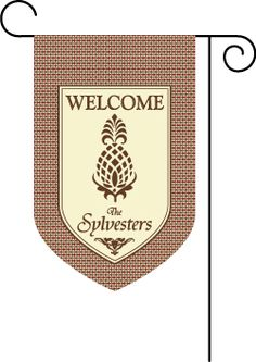 Pineapple Argyle Name Welcome Garden Flag : Personalized Gifts - Preppy Monogrammed Gifts @ 2PreppyGirls.com