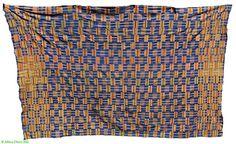 Kente Handwoven Men's Cloth Large Ghana African Textile