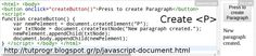 #Javascript #Paragraph #Element #Programming #Code #Picture : http://tutprogr.blogspot.gr/p/javascript-document.html