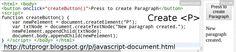 #Javascript #Paragraph #Element #Programming #Code #Picture : http://tutprogr.blogspot.gr/p/javascript-document.html