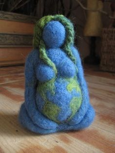 Needle felting - Needle felted, Mother Earth, Blue Goddess, Original design by Borbala Arvai, made to order – Needle felting Earth Goddess, Needle Felted, Felt Art, Book Of Shadows, Mother Earth, Earth 2, Felt Dolls, Softies, Needle Felting