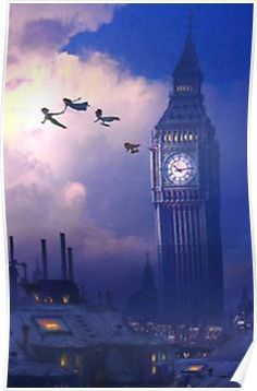 Peter Pan clock Poster