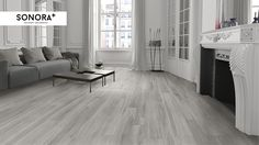 Sonora Grey. Ceramic tiles that looks like wood.