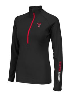 010a3eaaf007e Texas Tech Red Raiders Womens 1 4 Zip Pullover - Scarlet Red Raiders Soho  Long Sleeve Pullover