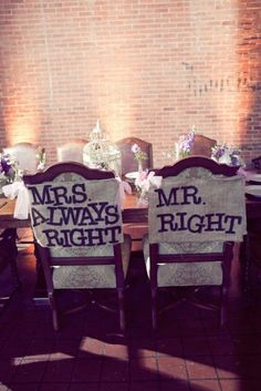 11 DIY Chair Designs For The Bride And Groom - Home Decorating Trends