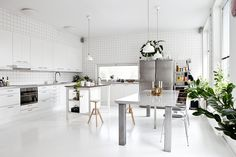 white modern kitchen with an industrial touch