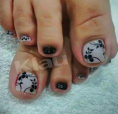 Cute Pedicure Designs, Manicure Nail Designs, Toe Nail Designs, Manicure And Pedicure, Cute Pedicures, Nail Arts, Toe Nails, So Pes, Beauty