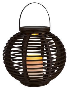 Add instant atmosphere to your patio with our bestselling reed effect basket containing a lifelike solar powered candle.   http://www.clasohlson.com/uk/Solar-Basket-Lantern/Pr364794000