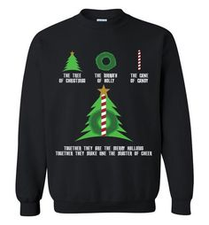 The Tree Of Christmas The Wreath Of Holly The Cane Of Candy Shirt