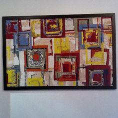 Abstract mosaic Tutti frutti