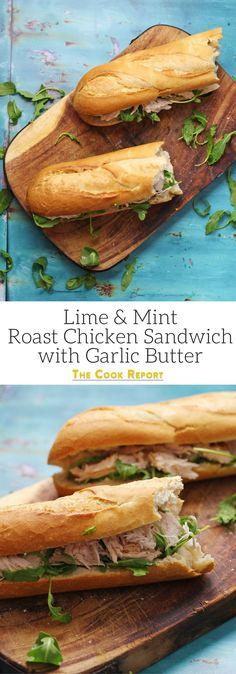 Roast Chicken Sandwich Recipes, Soup And Sandwich, Burger Recipes, Lunch Recipes, Chicken Recipes, Cooking Recipes, Chicken Sandwich Filling, Panini Recipes, Pork Recipes