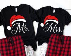 Christmas pajamas | Etsy Christmas Pajama Party, Christmas Couple, Christmas Pajamas, Christmas Shirts, Christmas Boxes, Christmas Stuff, Christmas Presents, Vinyl Shirts, Cut Shirts