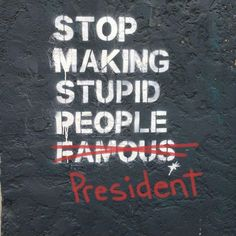 Usa People, Stupid People, Donald Trump, Presidents, Wisdom, Thoughts, Shit Happens, Sayings, Street Art