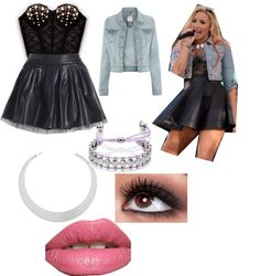 """Get the look: Demi Lovato"" by salmazar ❤ liked on Polyvore"