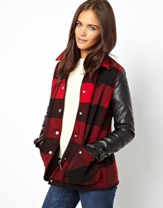 Image 1 of River Island Lumberjack Oversized Jacket