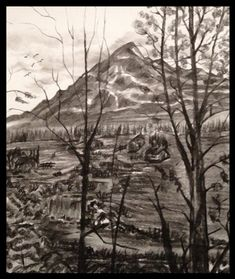 Charcoal Half Dome, Charcoal, Frames, Mountains, Dark, Nature, Naturaleza, Frame, Nature Illustration