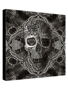 Lace Skull by Ali Gulec (Canvas) from Anatomy Art on Gilt