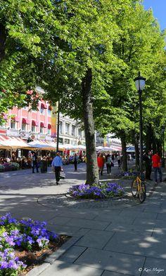 Schonmal auf den Sommer in Oslo freuen :-) Karl Johans gate, Oslo, Norwegen: