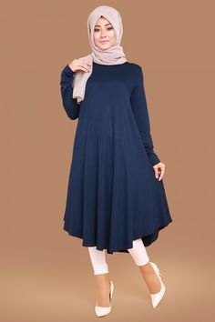 Discover thousands of images about Akasya Sade Tunic Laci Product code: -> TL Frock Fashion, Abaya Fashion, Muslim Fashion, Modest Fashion, Fashion Dresses, Moda Hijab, Abaya Mode, Denim Maxi Dress, Hijab Stile