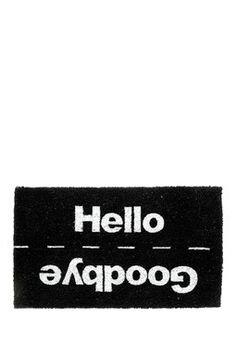Hello/Goodbye Rubber Doormat
