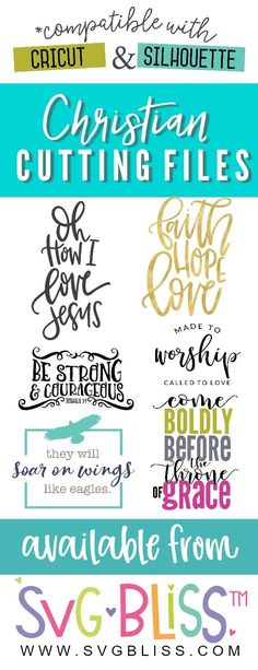 Check our our variety of Christian Cutting Files! Each design is available in SVG and DXF file formats & compatible with Cricut & Silhouette machines. Cricut Vinyl, Svg Files For Cricut, Faith Sayings, Diy Cutting Board, Ville France, Silhouette Machine, Cricut Creations, Christian Quotes, Cutting Files