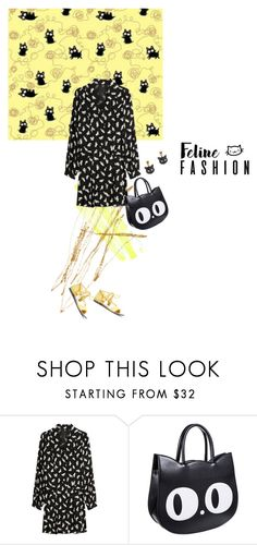 """""""feline fine"""" by sharmarie ❤ liked on Polyvore featuring Anna Sui and Rosita Bonita"""