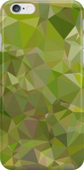 Sap Green Abstract Low Polygon Background by retrovectors