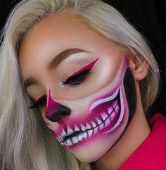 ♧ Pinterest : @denitsllava ♧ Clown Makeup, Skull Makeup, Fx Makeup, Costume Makeup, Amazing Halloween Makeup, Halloween Eyes, Halloween Looks, Special Effects Makeup, Crazy Makeup