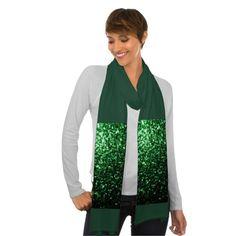Sold! Beautiful Glamour Green glitter sparkles #Scarf by #PLdesign #GreenSparkles #SparklesGift #SparklesScarf